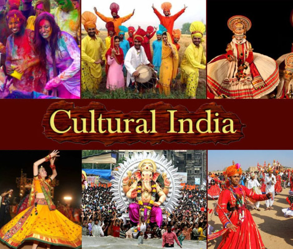 Image That Representing Various Styles of Traditional Indian Art and Culture.